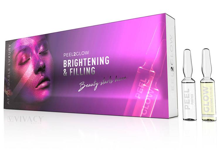 Peel 2 Glow - Brightening & Filling - 5 zabiegów